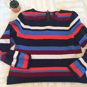 Jcrew | sweater stripe top • L